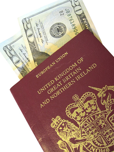 UK Passport on white background