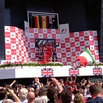 2011 British Grand Prix: Silverstone - Podium (1)