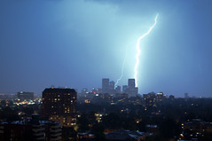 Lightning Strikes Downtown Denver