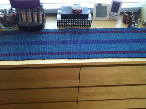 Beginner weaving project, in situ