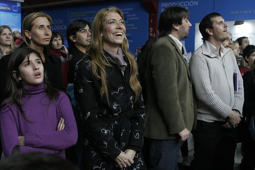 Minister Débora Giorgi, one of the three women in the Excecutive Power, visiting Tecnópolis in 2011. (Photo courtesy of Tecnópolis)