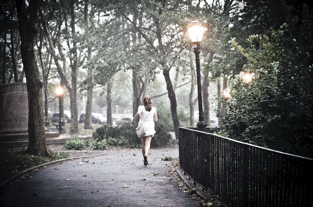 girl caught in the rain | Flickr - Photo Sharing!