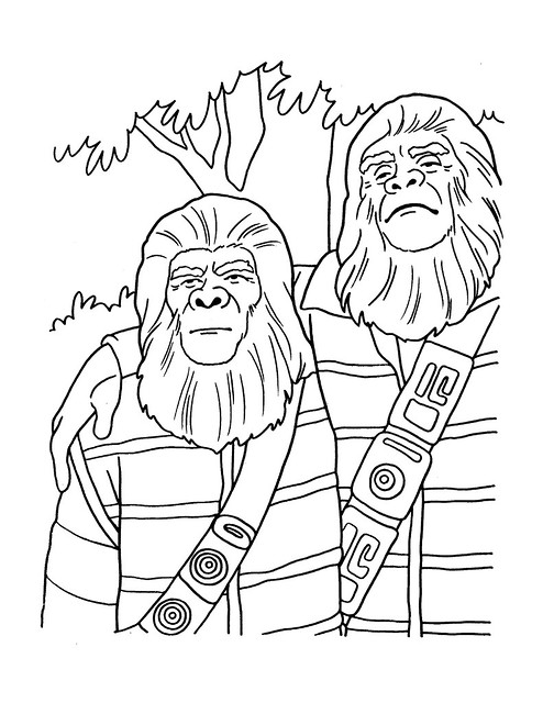 Planet of the Apes Coloring Book 0200035
