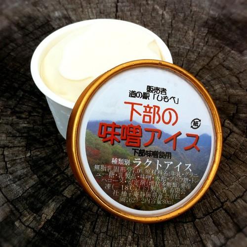 下部の味噌アイス