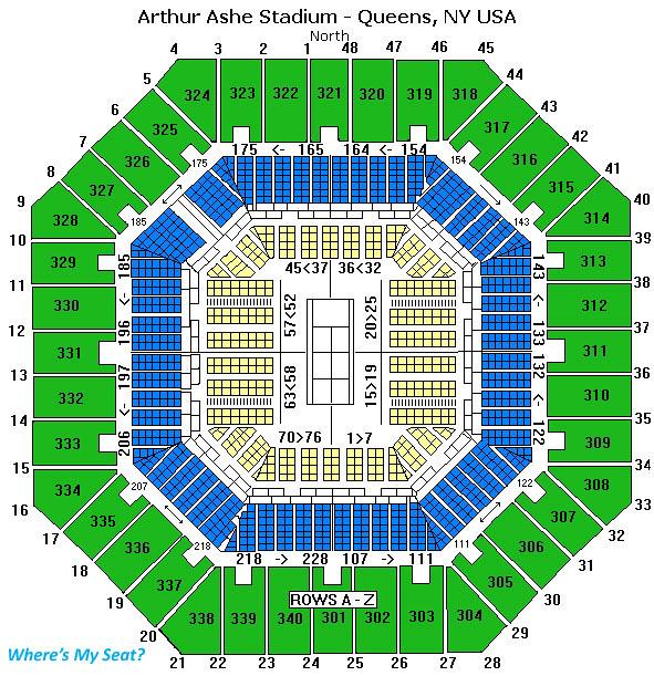 Arthur Ashe Stadium Seating Chart Wheres My Seat Flickr