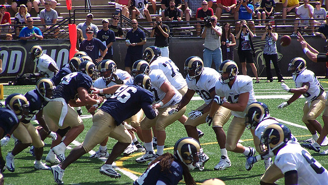 Rams scrimmage