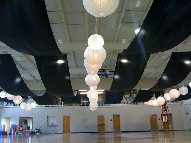 Ceiling Swag | Wedding Decoration | Lampshades