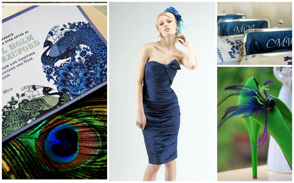 Fall Bridesmaids' Style: Navy Blue Glam