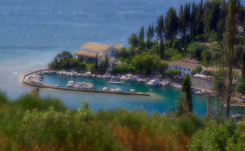 Greece - Dreamy morning view over the small picturesque harbour of Kalami, Corfu. (Explored 14th August 2011)