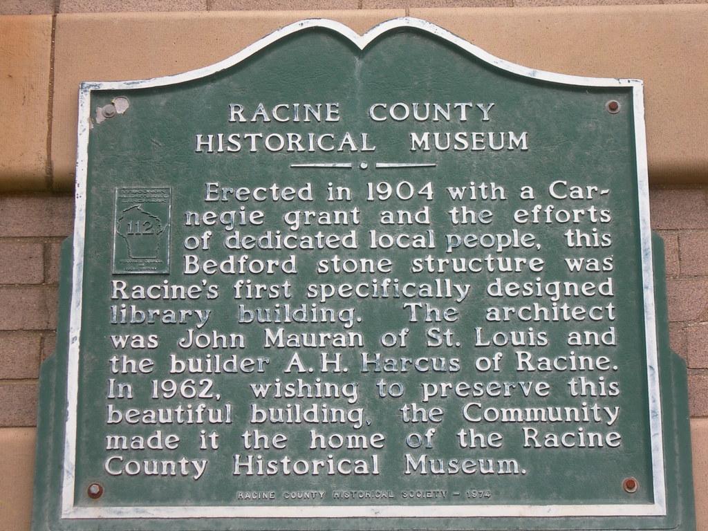 Racine County Historical Museum Marker