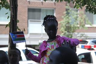 South Sudanese girl at independence celebration