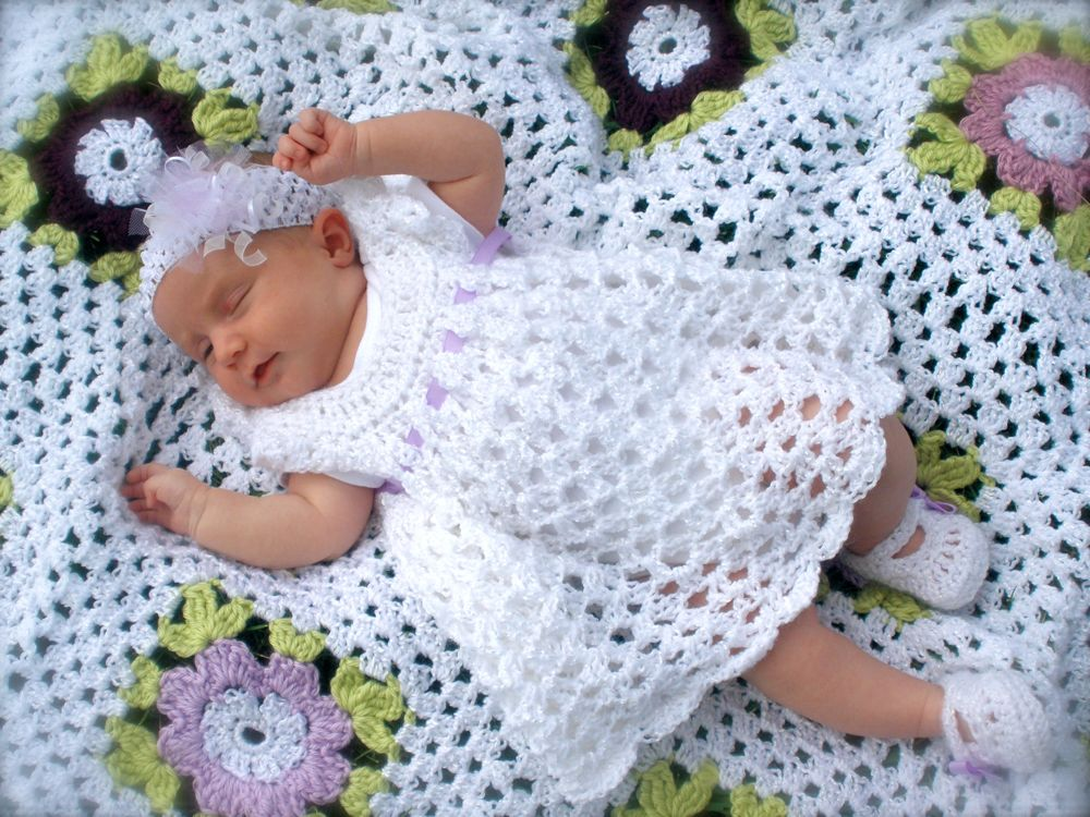 Crochet Baby Wings Pattern Free : Angel Wings Pinafore Dress This beautiful dress was made ...