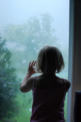 watching the crazy rain