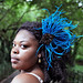 Natural Hair Accessories Blue Feather Headband