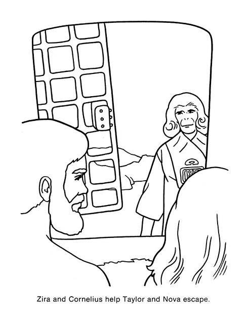 Planet of the Apes Coloring Book 0200050