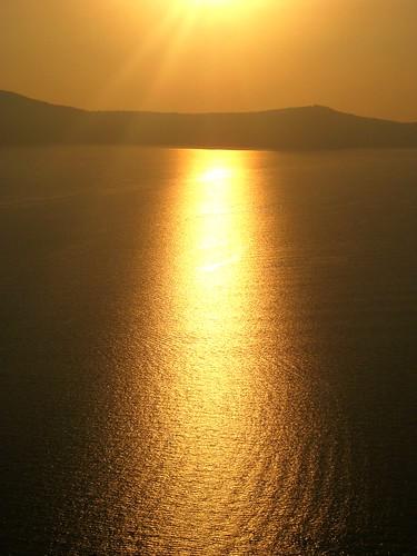 sunset sun gold santorini greece fira hcs aegeansea flipmode79