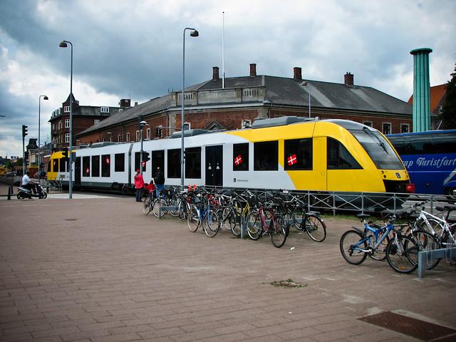 Дизельный трамвай в Хельсингёре