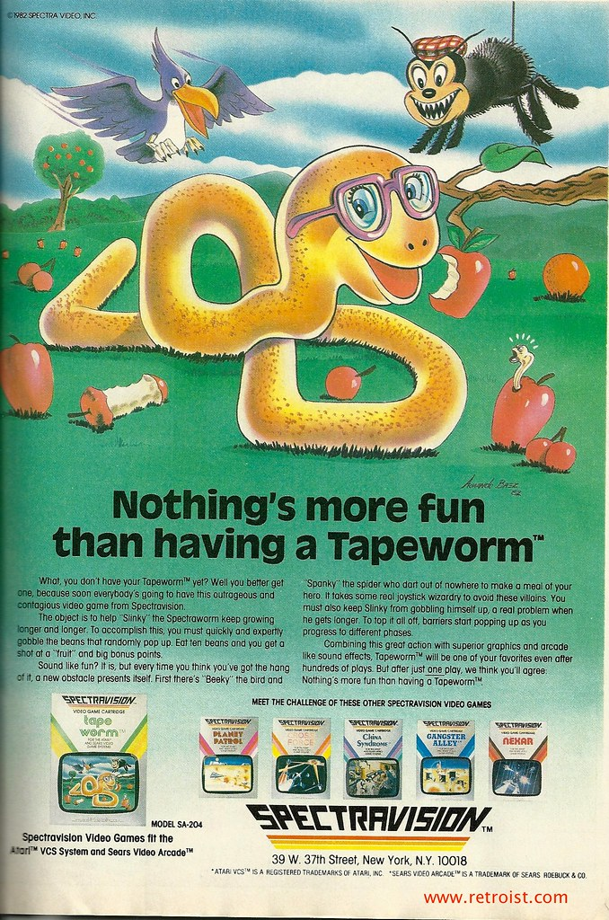 Spectravision Tapeworm Ad