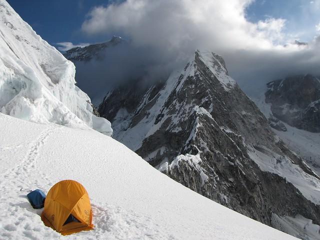 Glaciar Chopicalqui en el Parque Nacional Huascarán, Cordillera Blanca, Perú