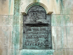 Photo of Castle of Liverpool black plaque