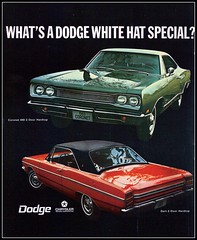 1969 Dodge Coronet 440 and Dart 2 door hardtop - White Hat Special