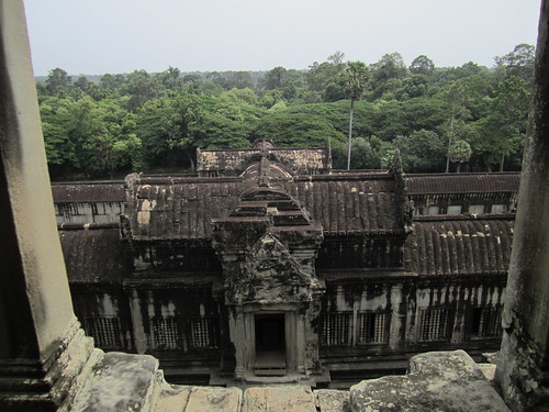 Looking north into the jungle from Angkor Wat
