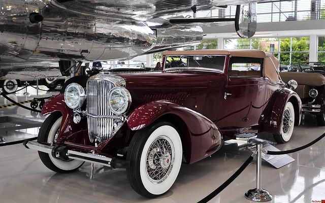 1931 Duesenberg Model J Fernandez & Darrin Victoria - maroon - fvl
