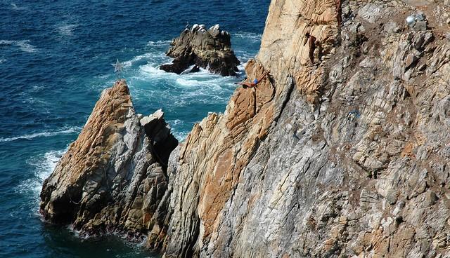 Cliff divers at La Quebrada, Acapulco, Mexico