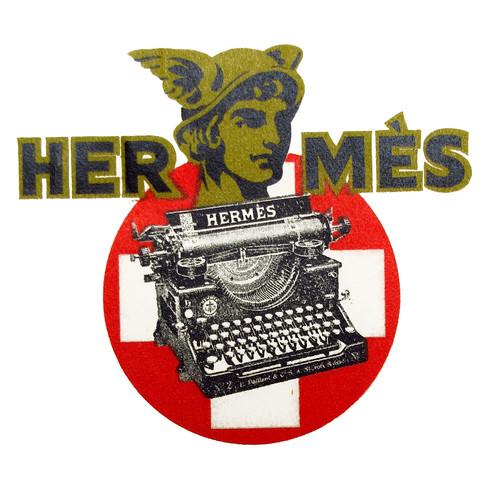 Hermes typewriter logo