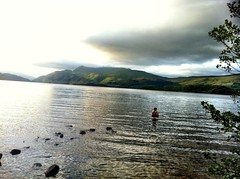 An ice bath substitute in Loch Lomond