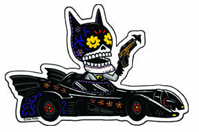 Bat Calavera Vinyl Sticker