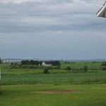 Firt glimpse of the Confederation Bridge