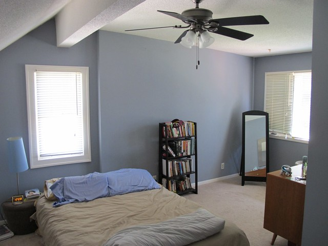 Master bedroom changes awesome new ceiling fan installe - What size ceiling fan for master bedroom ...