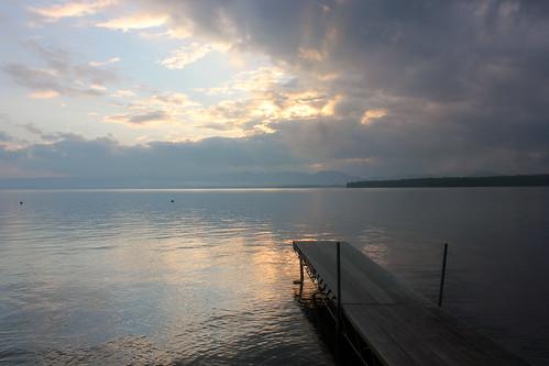 sunset lake newyork canon dock adirondacks greatsacandagalake
