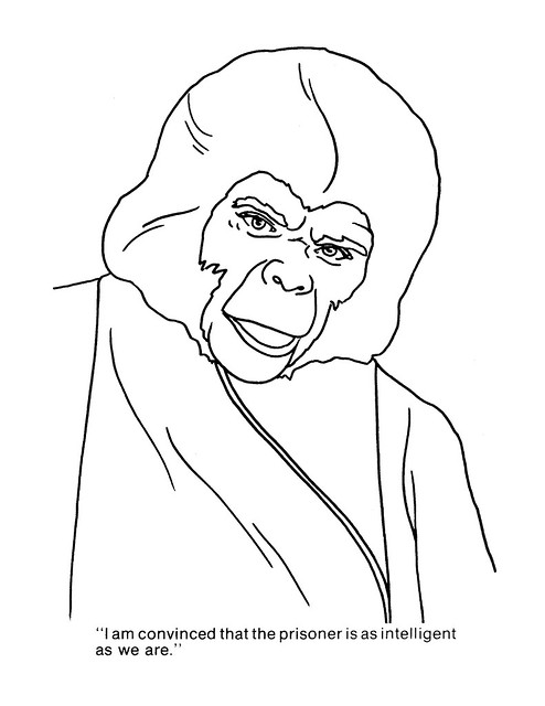 Planet of the Apes Coloring Book 0100044