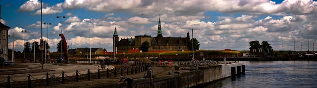 Хельсингёр - вид на замок Гамлета