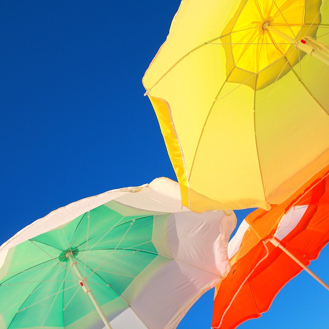 Colorful Beach Umbrellas.