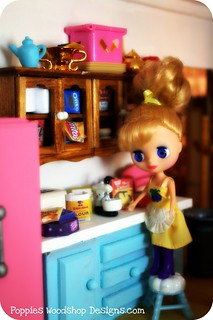 Petite Blythe Baking in her Sweets & Treats Kitchen