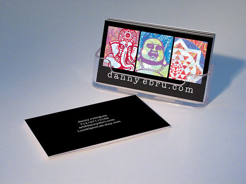 Artist business cards creative web design blog new business card design for danny colourmoves