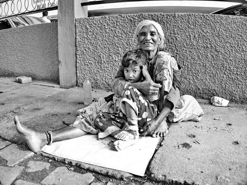 Beggar in Bangalore India
