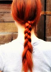 hairstyle, french braid, hair, long hair, hair coloring, red hair,