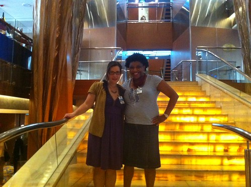 @raquelita and me on a ship!
