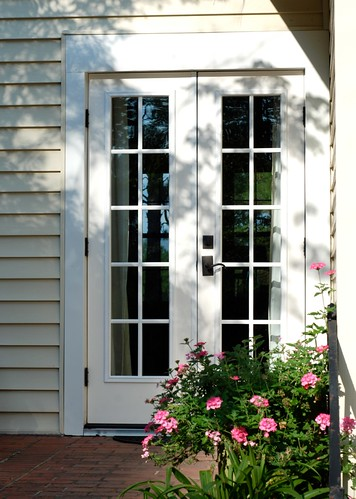 Sarah 39 s house new french doors the estate of things for Narrow exterior french doors