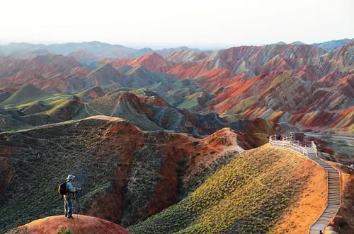 Morning on Danxia Landform 地貌日出