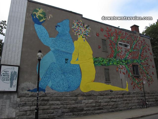 Gorilla street art Montreal