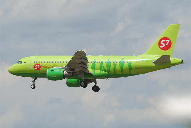 S7 Airlines Airbus A319-114; VP-BHI@FRA;06.07.2011/603ms