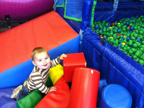 Enjoying softplay
