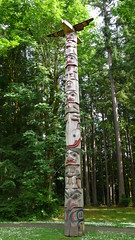 birch(0.0), outdoor structure(0.0), plant(0.0), stele(0.0), totem pole(1.0), art(1.0), tree(1.0), sculpture(1.0), totem(1.0),