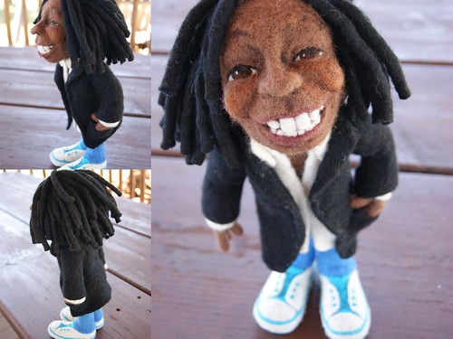 Li'l Whoopi - Needle Felted Wool Doll