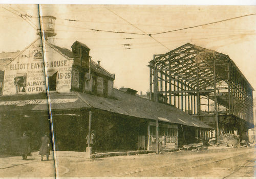 Original Market House - - new Market Auditorium under construction - c1910. Wheeling, W.Va.,